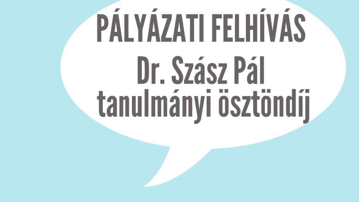 Megjelent a Szász Pál tanulmányi ösztöndíj pályázati felhívása