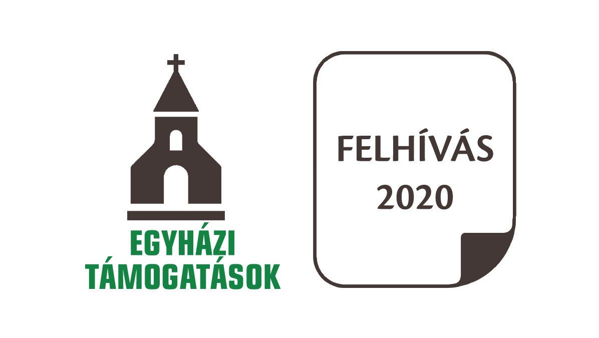 Egyházi támogatás 2020