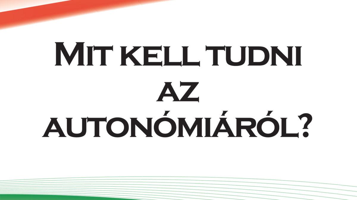 Mit kell tudni az autonómiáról?